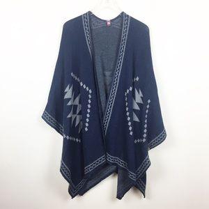 Sweaters - Fashion | Knit Aztec Southwestern Blanket Poncho